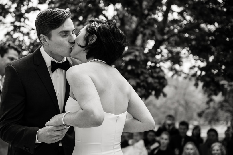 Kiss by Denver wedding photographer Carl Bower