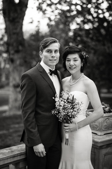 Wedding portrait at Grant Humphreys Mansion by Denver wedding photojournalist.