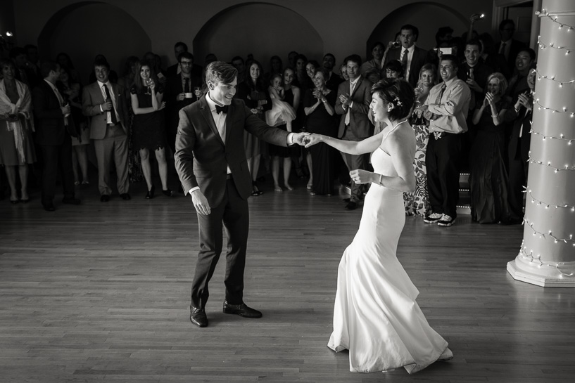 First dance by Denver wedding photojournalist