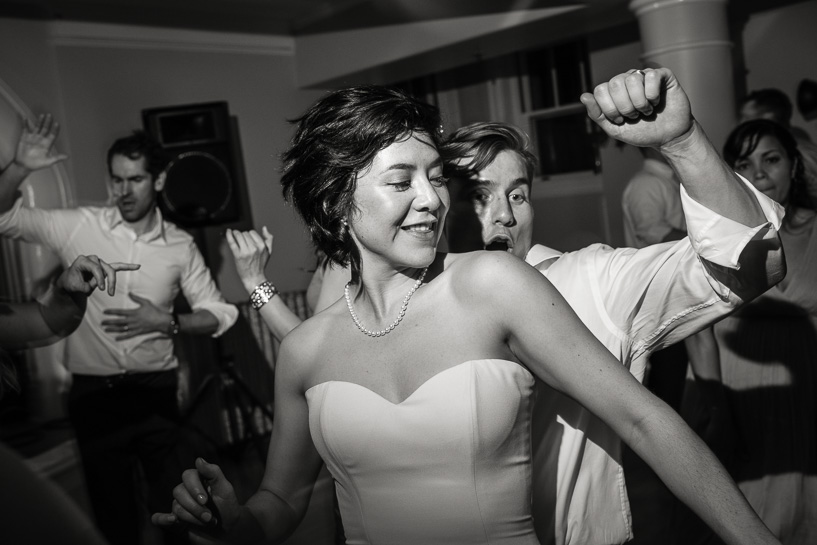 Dancing at Grant Humphreys Mansion by Denver wedding photographer