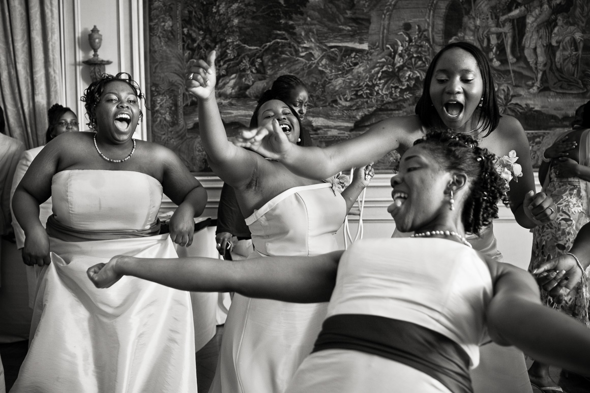 Bridesmaids Dancing Assorted Moments Carl Bower Wedding Photographer