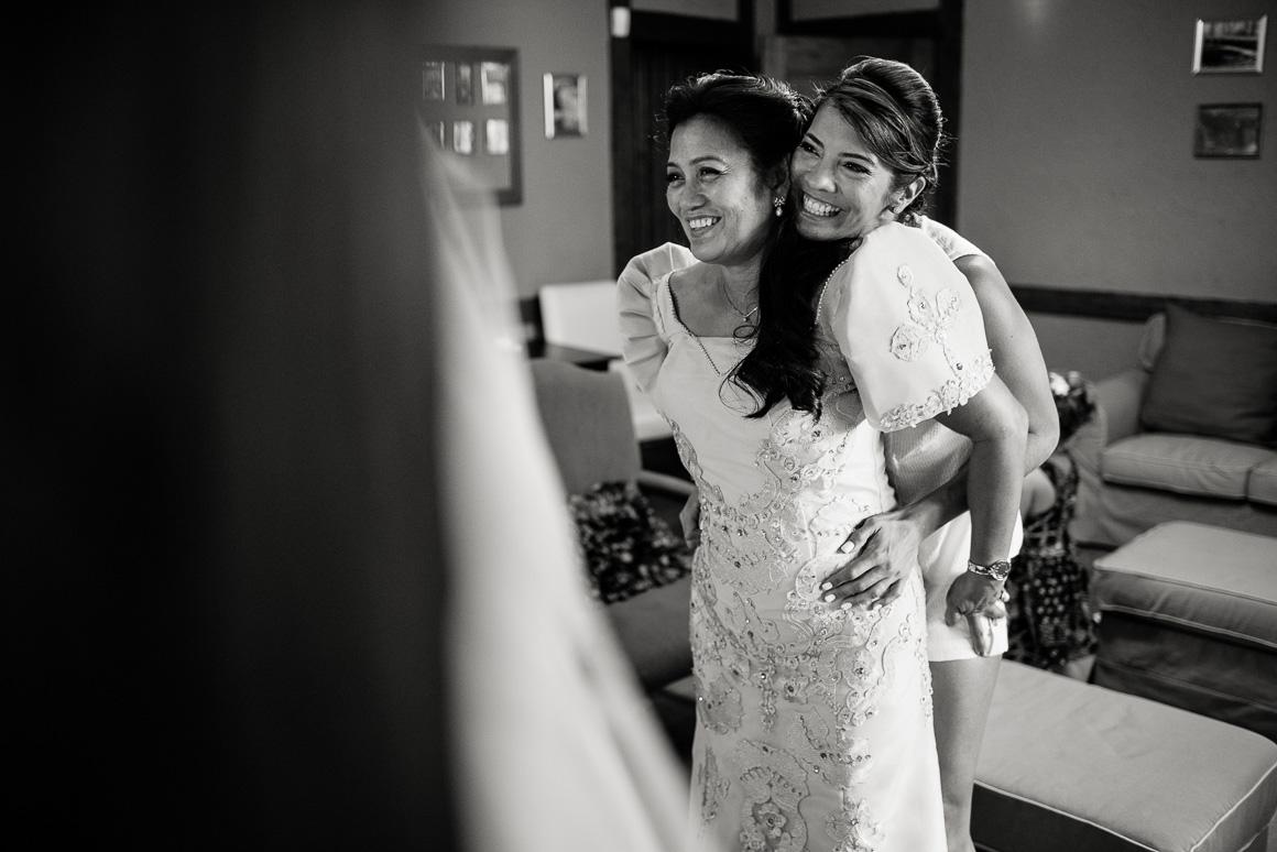 Bride with mother Stephanie Darrin Denver wedding photojournalist