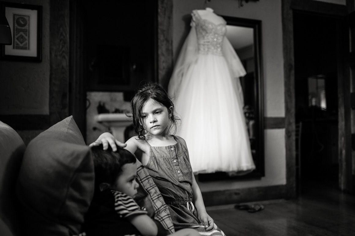 children boy girl dress gown Stephanie Denver wedding photojournalist