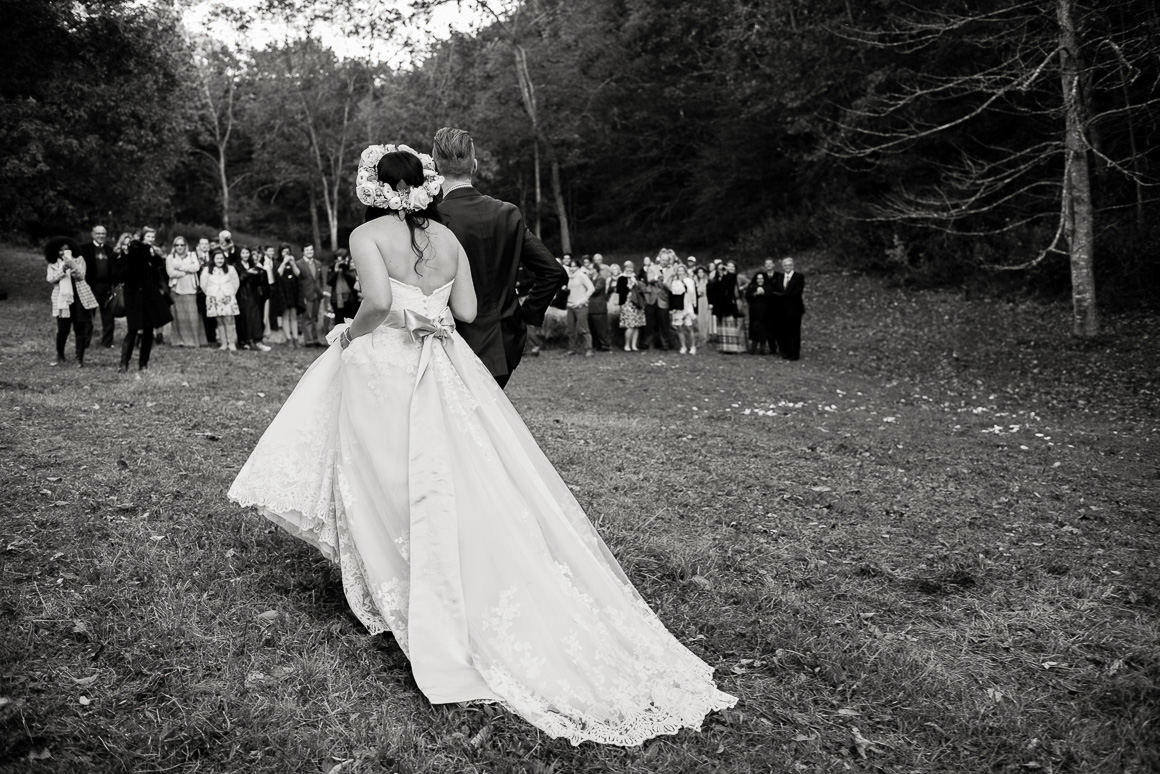blacksburg virginia wedding ceremony woods forest