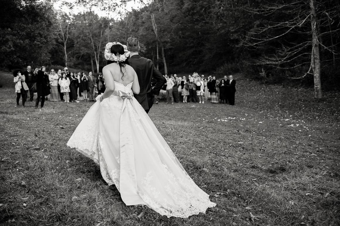 blacksburg virginia wedding ceremony woods forest