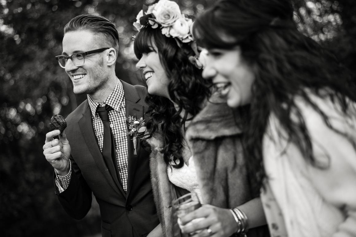blacksburg virginia wedding outside laughter