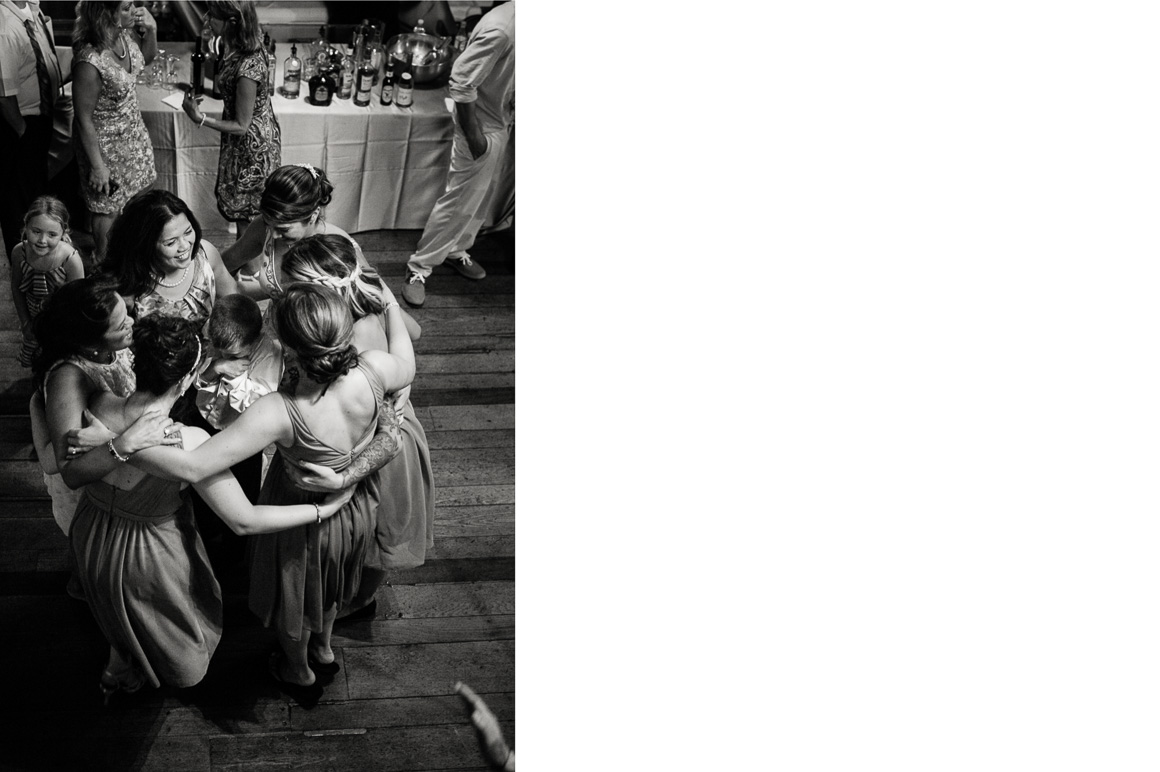 cloister castles bride bridesmaids women circle huddle