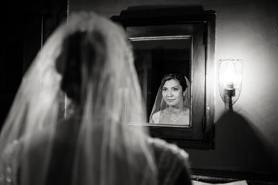 cloisters castle bride veil mirror Denver wedding photojournalist