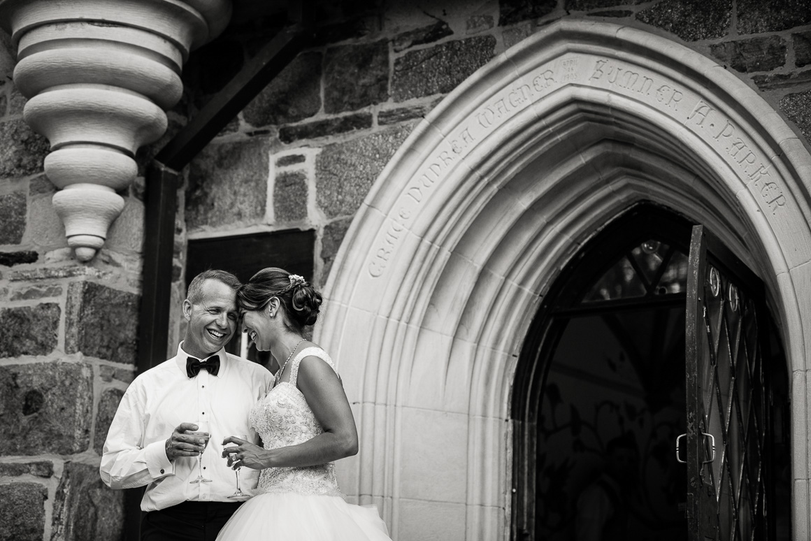 cloisters castle entrance smile wedding photojournalist Denver