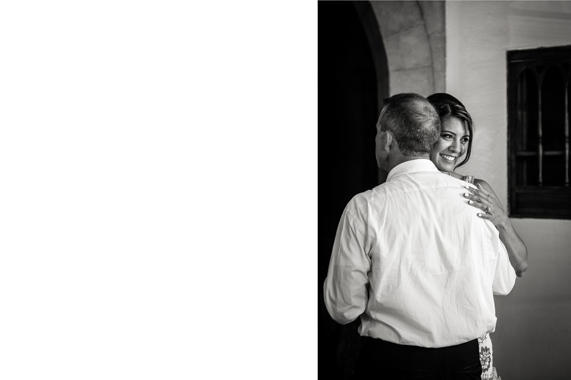 cloisters castle newlyweds hug