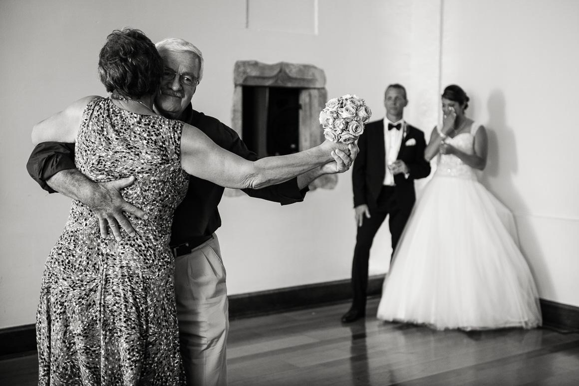 cloisters castle parents dancing wedding