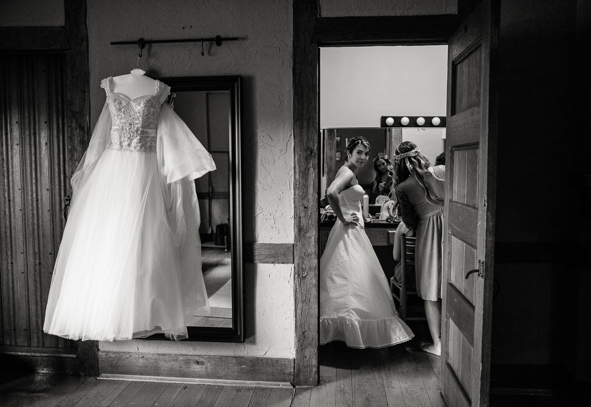 Bride getting ready Stephanie Darrin Denver wedding photojournalist
