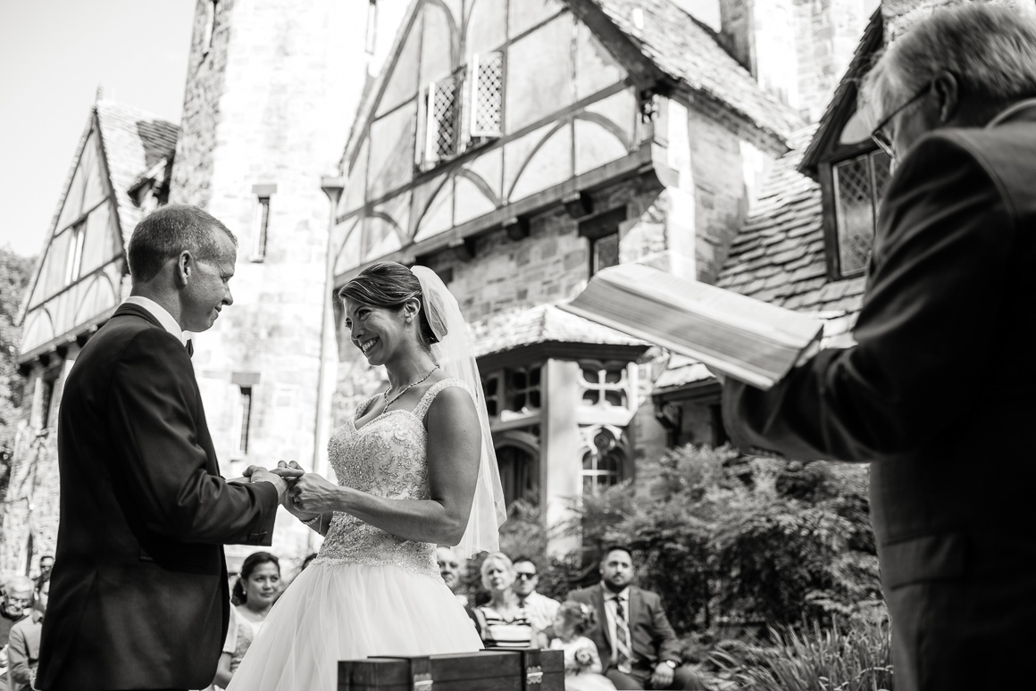 cloisters castle wedding vows ceremony Denver wedding photojournalist