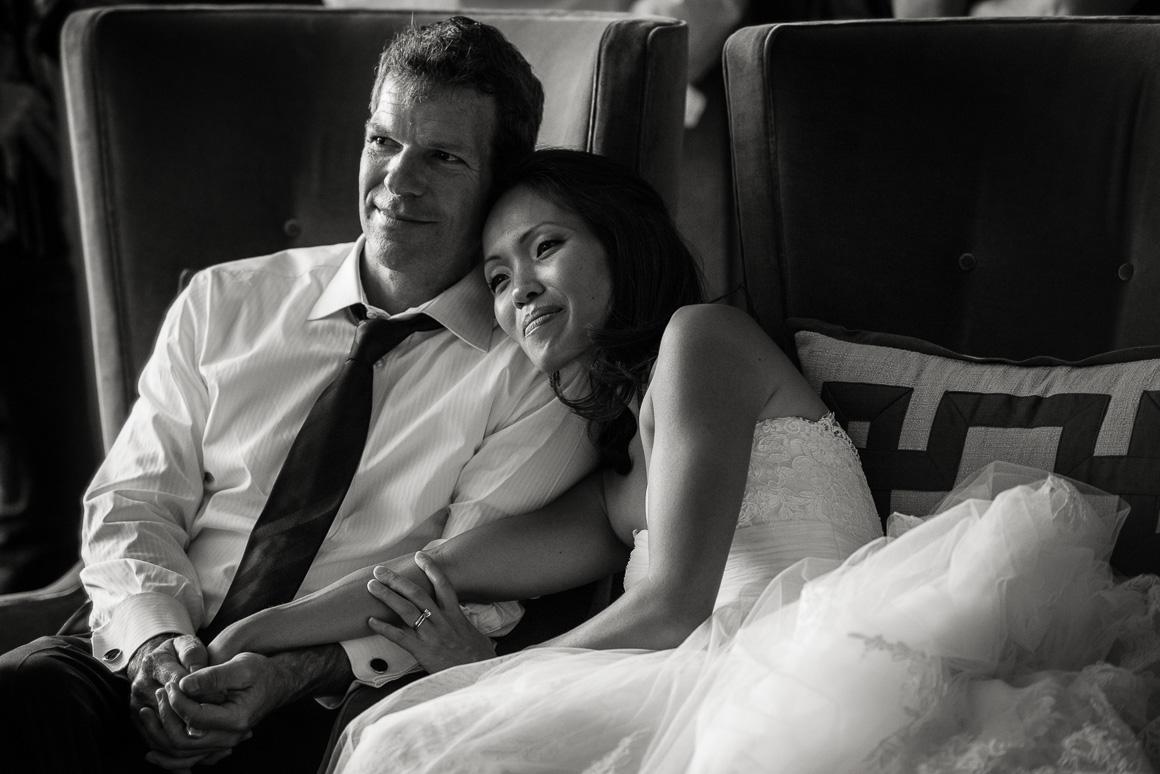 vail co wedding photography newlyweds sitting cuddling romantic