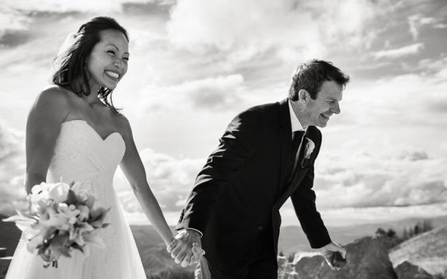 Yoshimi and Michael vail mountain colorado outdoor wedding photographer