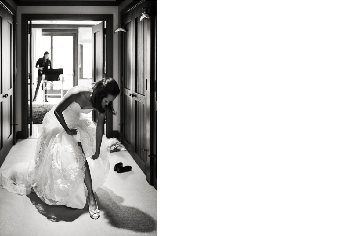 vail mountain wedding photos bride getting ready