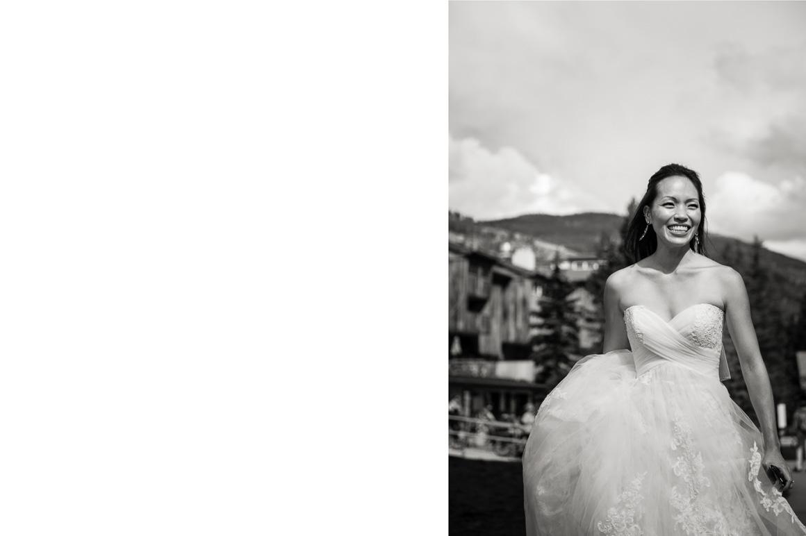 vail mountain wedding photos bride inside outside
