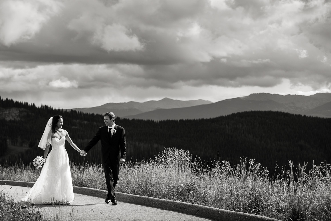 vail mountain wedding walk path horizon photo