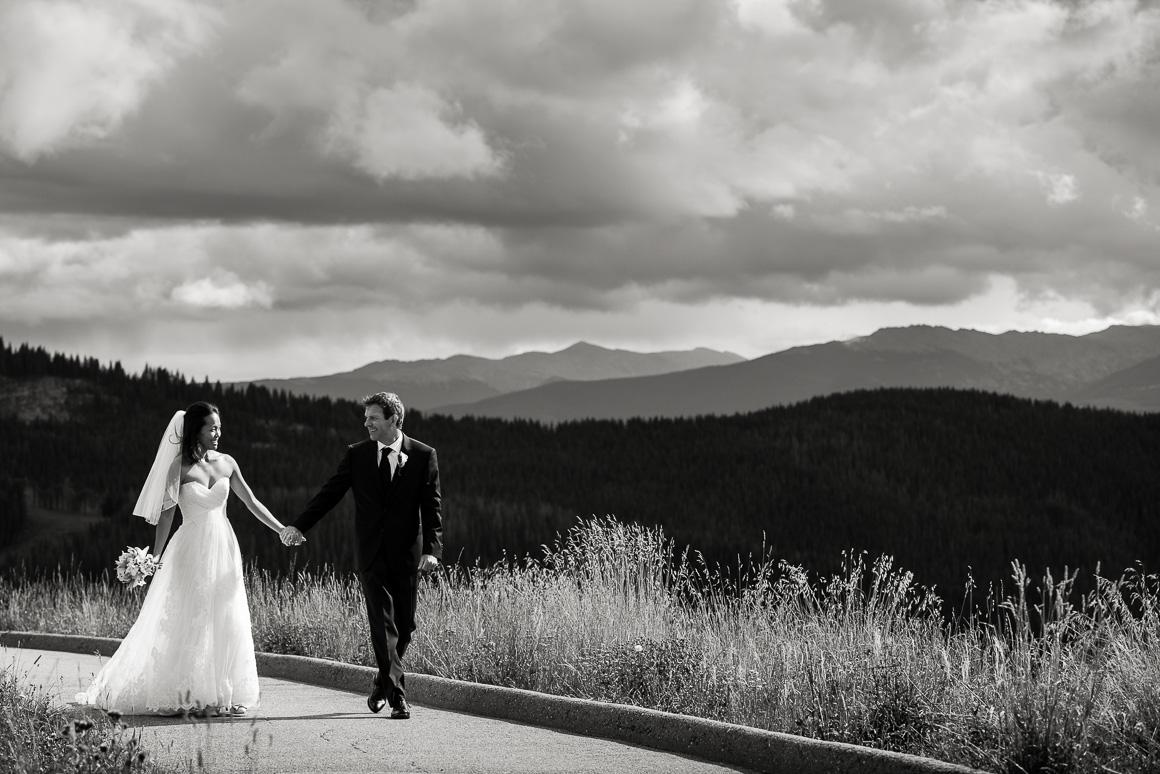 vail mountain wedding walk path horizon photo