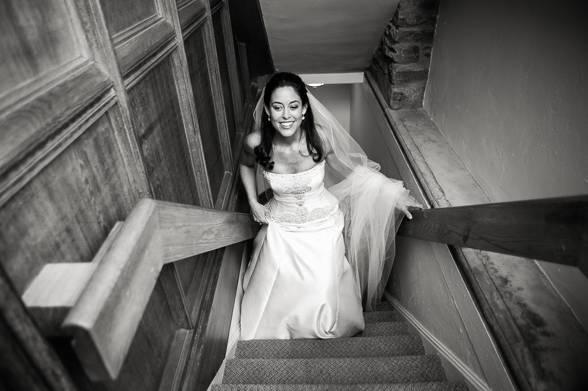 washington dc wedding bride stairs