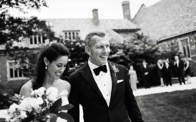 Jeanne and Paul washington dc wedding outside church