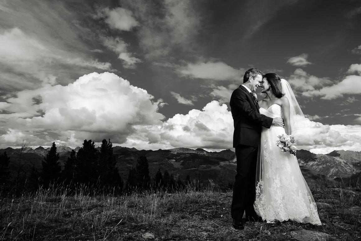 wedding ceremony vail mountain colorado outside