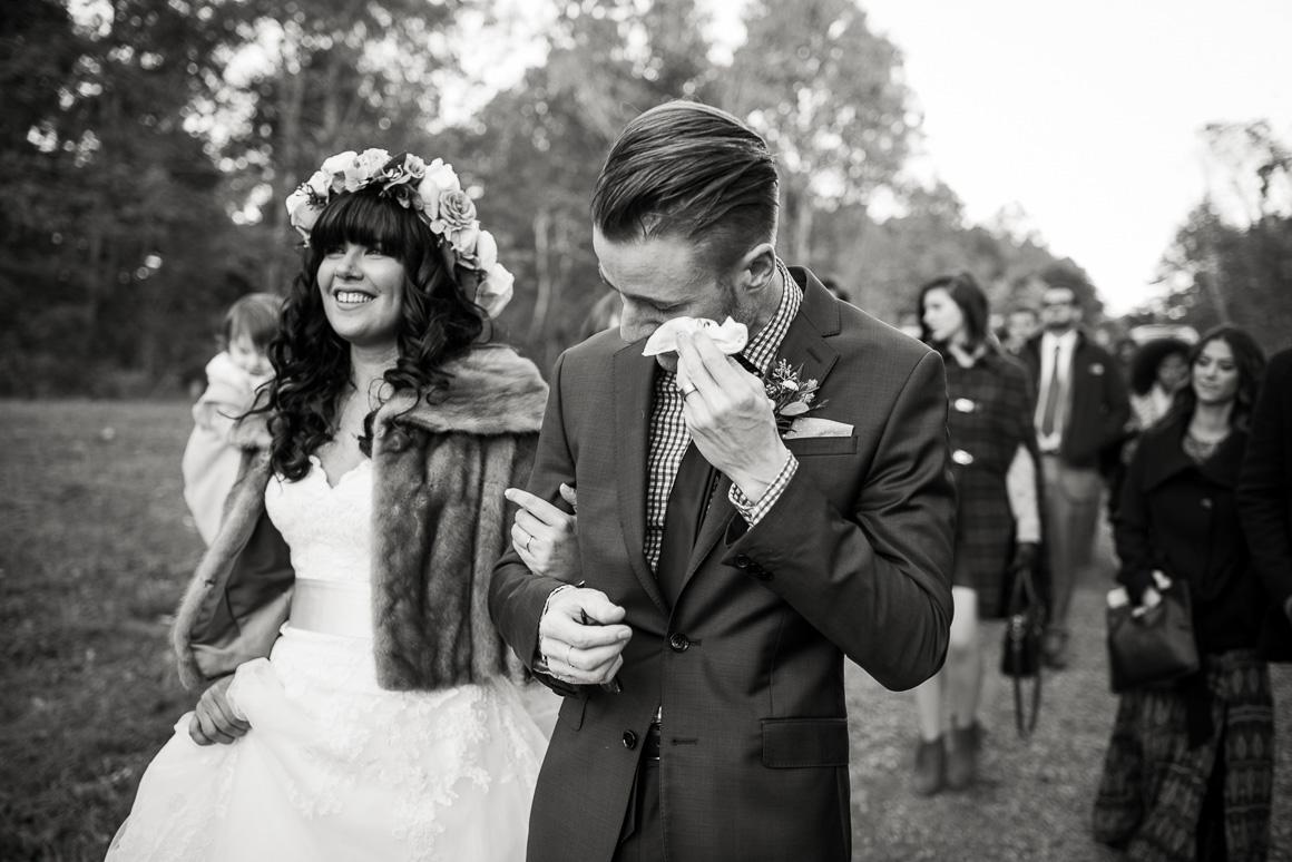 wedding march tears candid