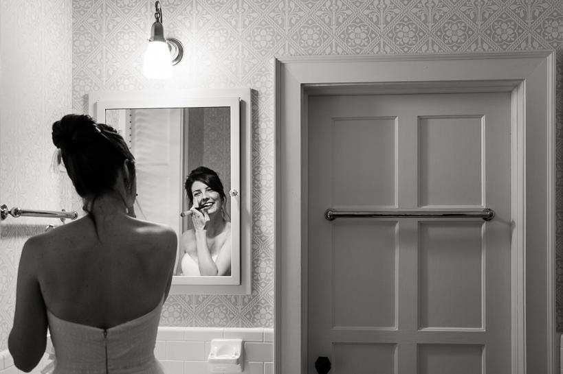 Bride getting ready for Loudoun County wedding