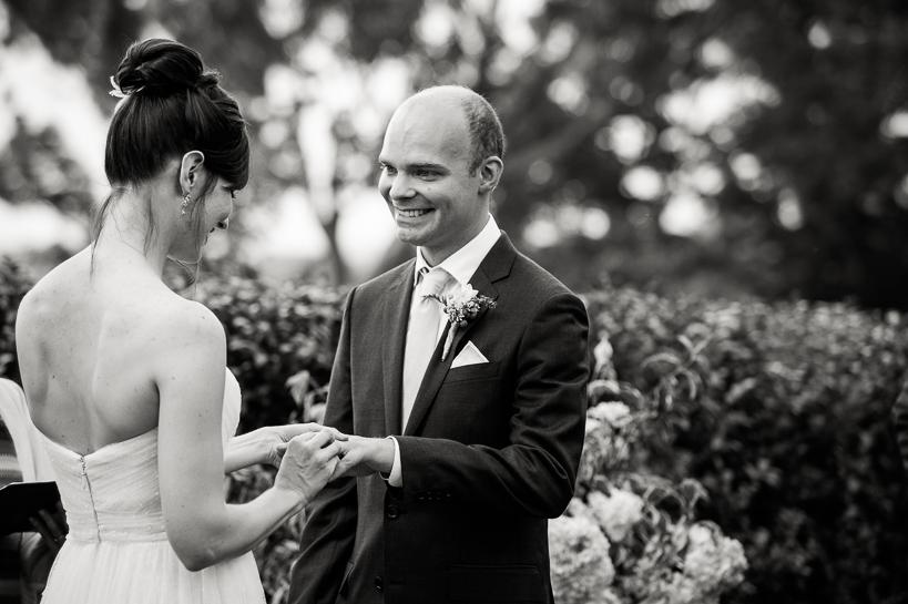 Virginia bride exchanges rings