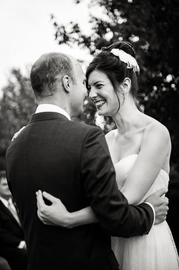 Virginia bride and groom at ceremony.