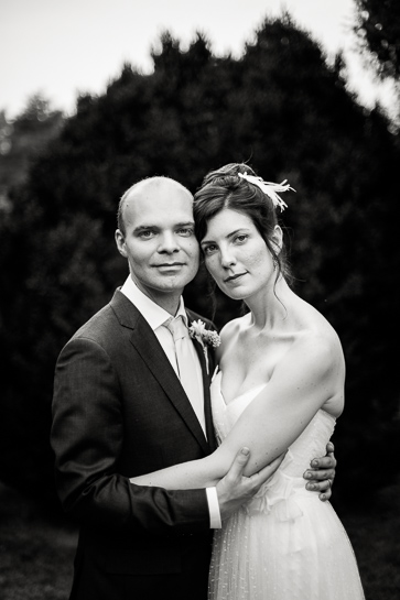 Quiet portrait of bride and groom by Denver wedding photographer