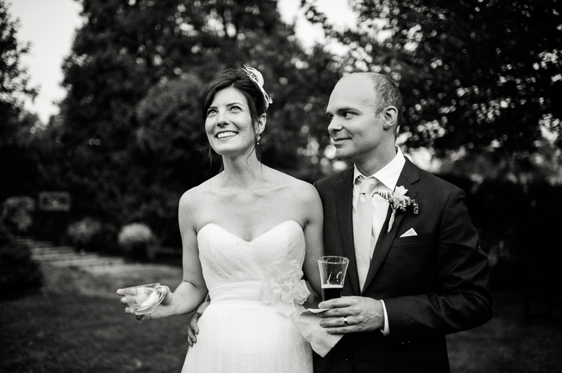 Virginia wedding couple at cocktails