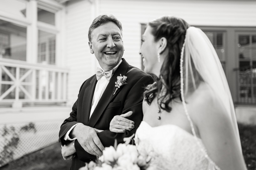 Bride and father by Denver wedding photojournalist