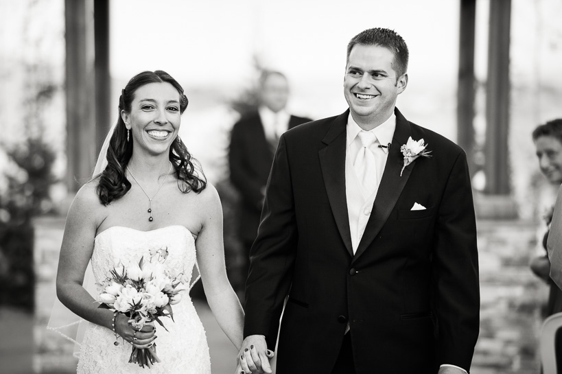 Denver wedding photographer captures end of ceremony at Willow Ridge Manor