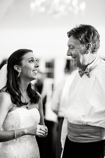 Bride and father at Willow Ridge Manor wedding