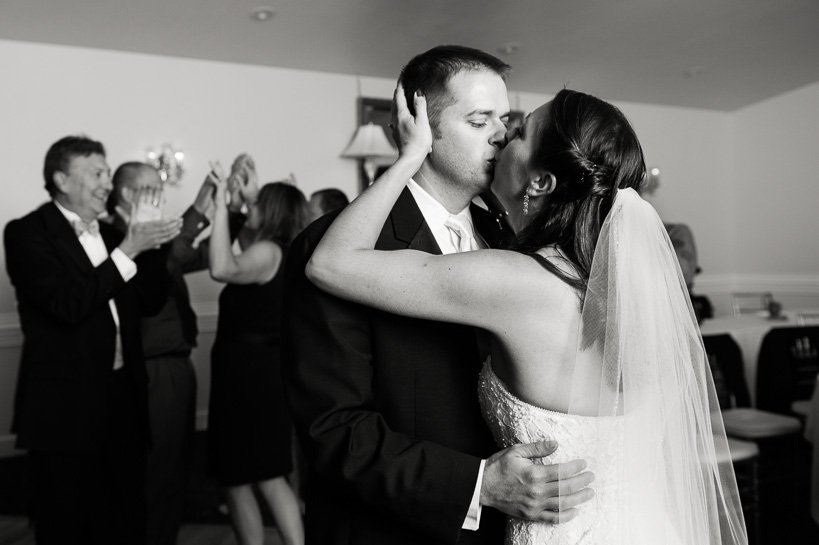 Last dance kiss by Colorado wedding photographer.