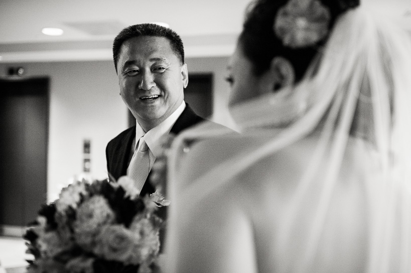 Bride with father by Denver wedding photographer