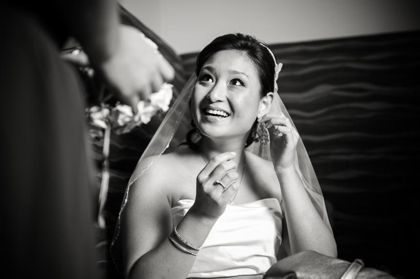 Bride at cocktails by Denver wedding photographer