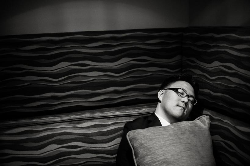 Asleep at Denver Magnolia Hotel wedding