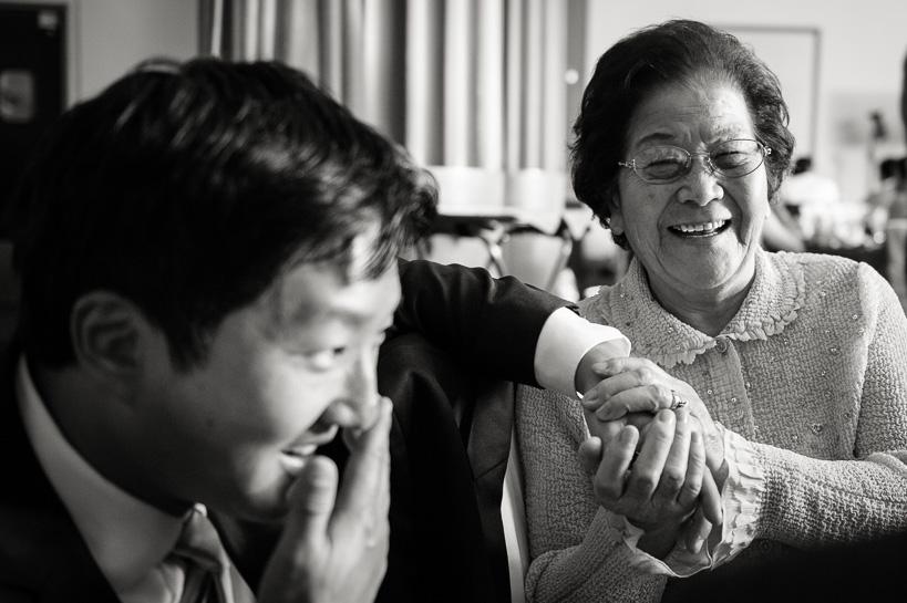 Groom with grandma by Denver wedding photographer