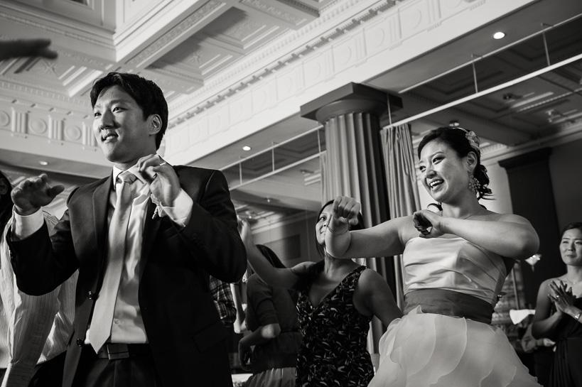 Magnolia Hotel reception by Denver wedding photographer.