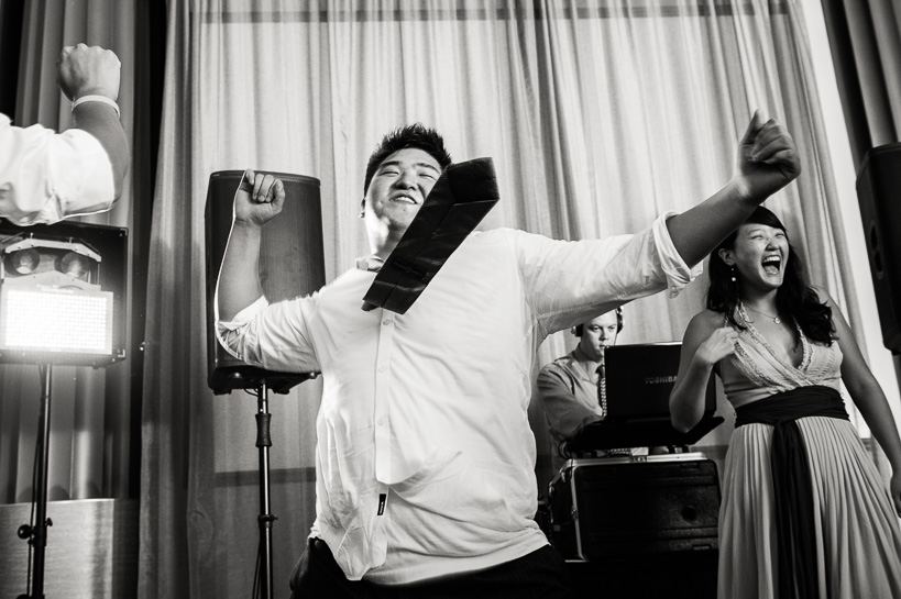 Dance party by Denver wedding photojournalist.