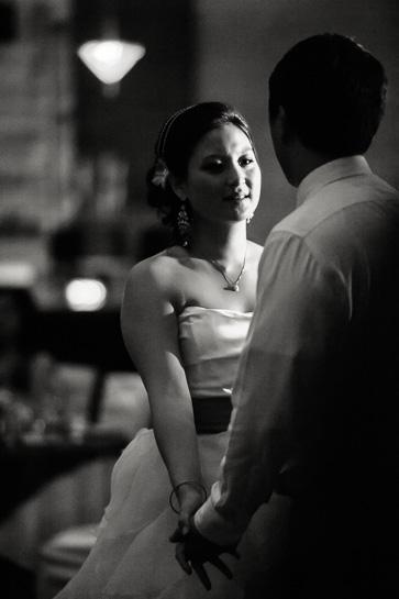 Denver wedding photographer captures bride at reception.