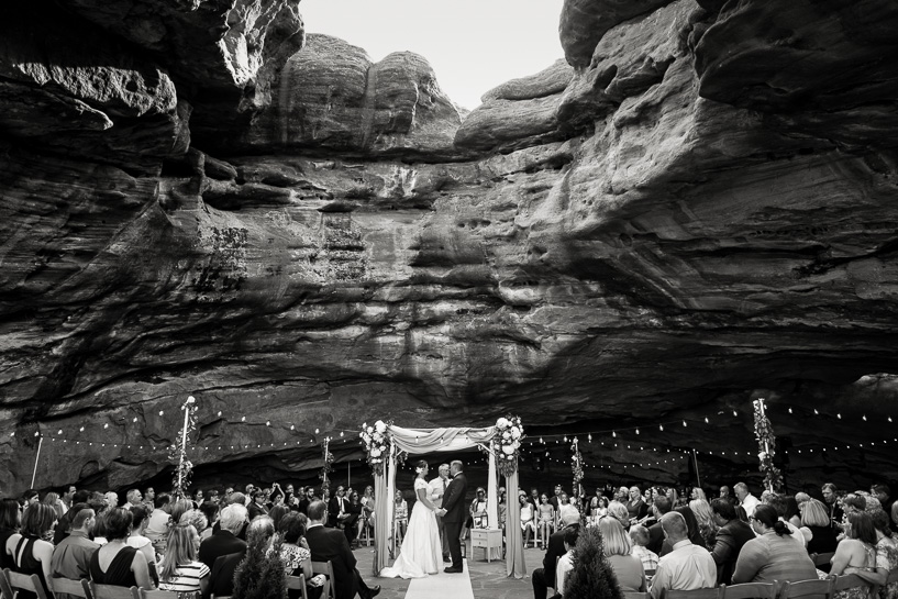 wedding ceremony at willowbrook amphitheater by denver wedding photographer