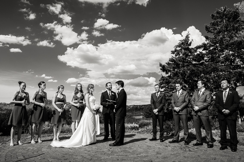 Manor House wedding ceremony by Denver wedding photographer.