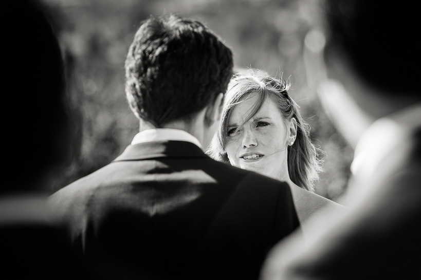 Denver wedding photojournalist captures exchange of vows at Manor House wedding.