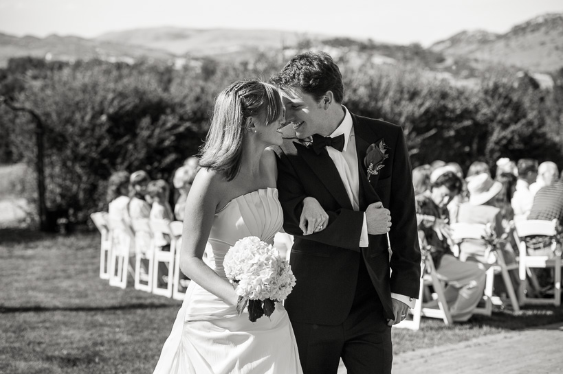 Couple after wedding ceremony at The Manor House in Morrisson.