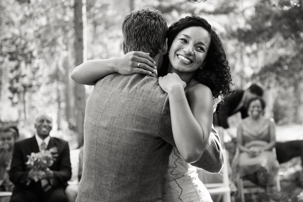 Colorado country wedding ceremony Denver wedding photojournalist
