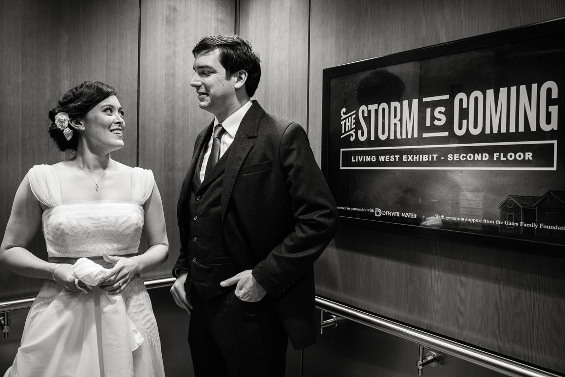 History Center Colorado wedding scene Denver wedding photojournalist