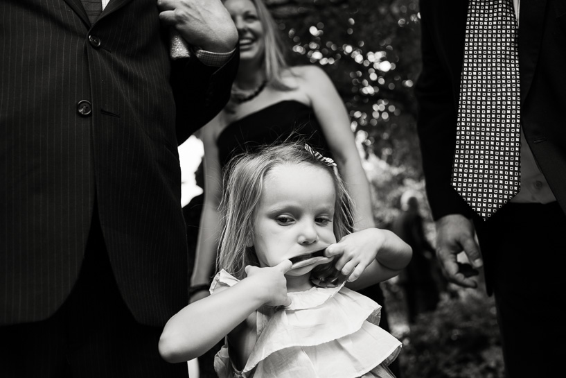 Flower girl at Denver Botanic Gardens wedding